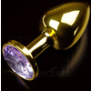 PLUG ANAL JEWELLERY SMALL GOLD BABY PURPLE