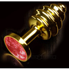 PLUG ANAL JEWELLERY RIBBED ORO / RUBY