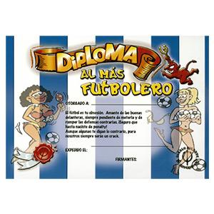 DIPLOMA AL FUTBOLERO BLANQUI-AZUL