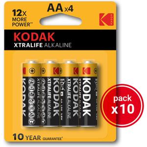 KODAK XTRALIFE ALKALINE AAA - 10 PACKS DE 4UDS