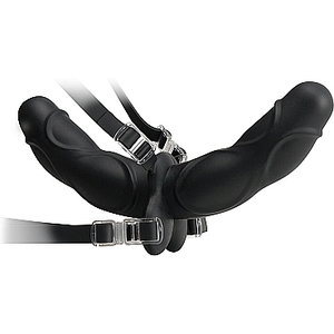 FETISH FANTASY ELITE DOUBLE DELIGHT STRAP-ON NEGRO
