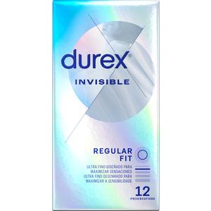 DUREX INVISIBLE EXTRA FINO 12 UDS