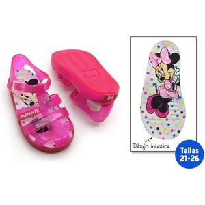 IDEALCASA Kids Chanclas para NI/ÑA Minnie Mouse Azul Y Rosa