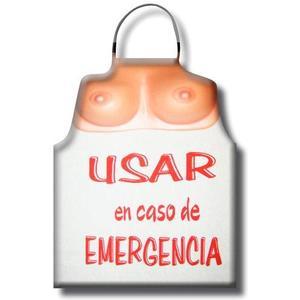 DELANTAL TETAS USAR EN CASO DE EMERGENCIA