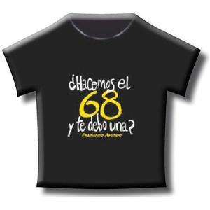CAMISETA BEIGE ¿HACEMOS EL 68 Y DE DEBO UNA?