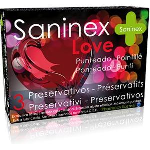 SANINEX PRESERVATIVOS LOVE PUNTEADO 3UDS