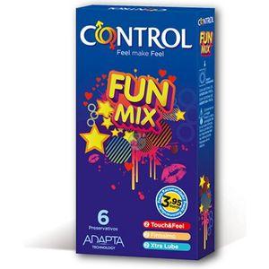 PRESERVATIVOS CONTROL FUN MIX 6UDS