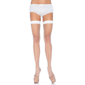 LEG AVENUE MEDIAS DE RED INDUSTRIAL MEDIANA BLANCA