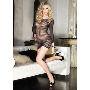LEG AVENUE MINI VESTIDO DE MANGA LARGA RED TIPO CROCHET