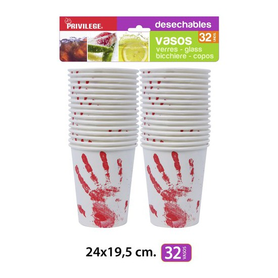 VASOS PAPEL DECORADOS 24X19,5CM., PRIVILEGE, 32UDS. (1)