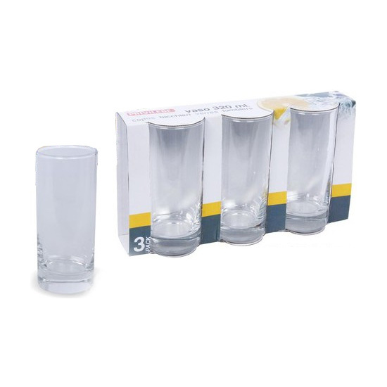 VASO REFRESCO PACK-3, PRIVILEGE, 320ML.