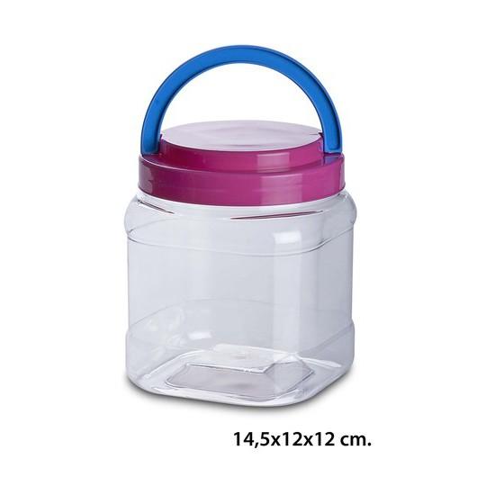 TARRO  CON ASA PET, USE PLASTICOS, 1,5L.