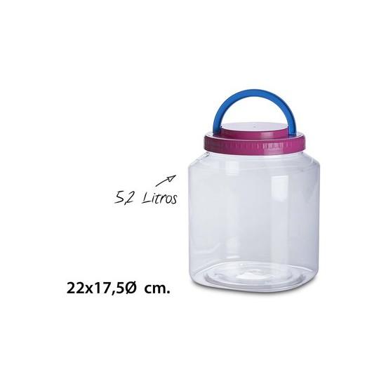 TARRO CON ASA, USE PLASTICOS, 5,2L.