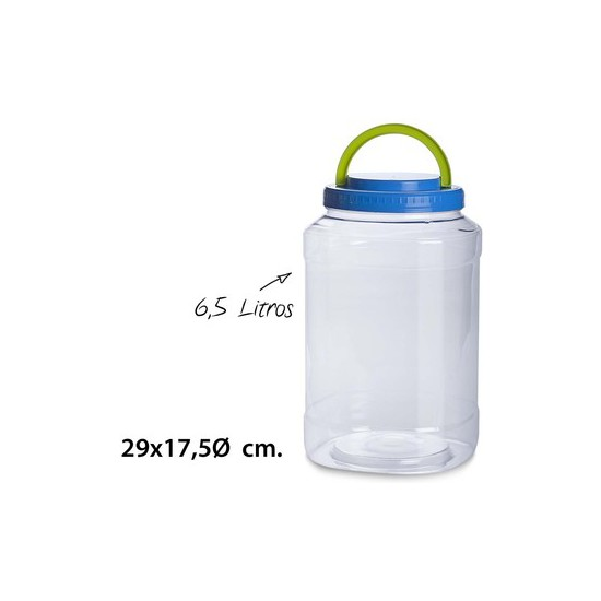 TARRO CON ASA, USE PLASTICOS, -PET-, 6,5L.