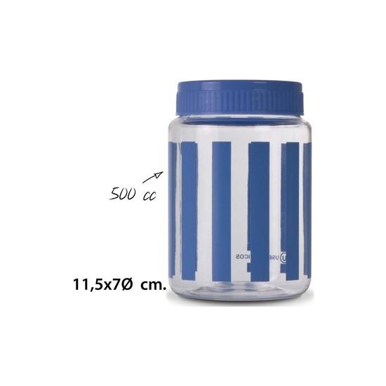 TARRO, USE PLASTICOS, -DEKOR-, 500CC.