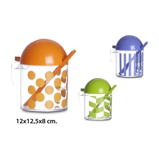 AZUCARERO, USE PLASTICOS, -DEKOR-, 12X12,5X8CM.