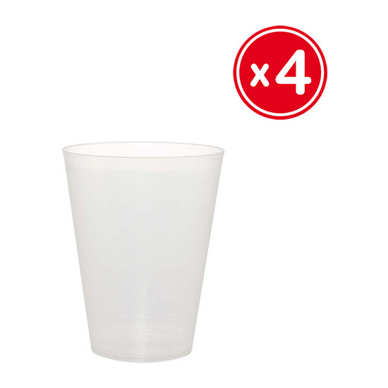 VASO COCKTAIL 500ML. POLIPROPILENO, WAT, 4UDS.