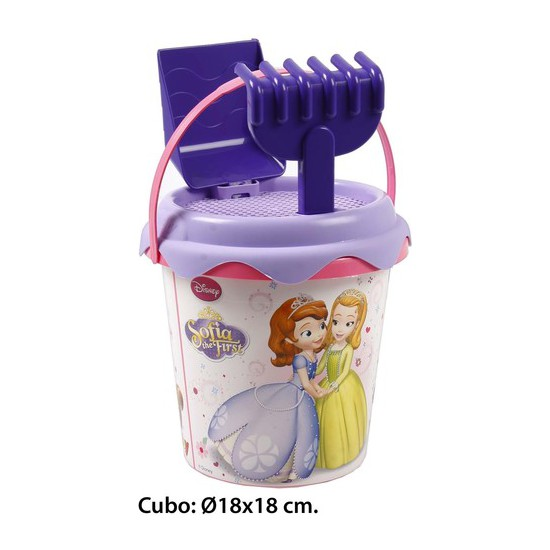 Cubo de playa, princesa sofia, -princesa sofia-, 3 piezas | CasayTextil
