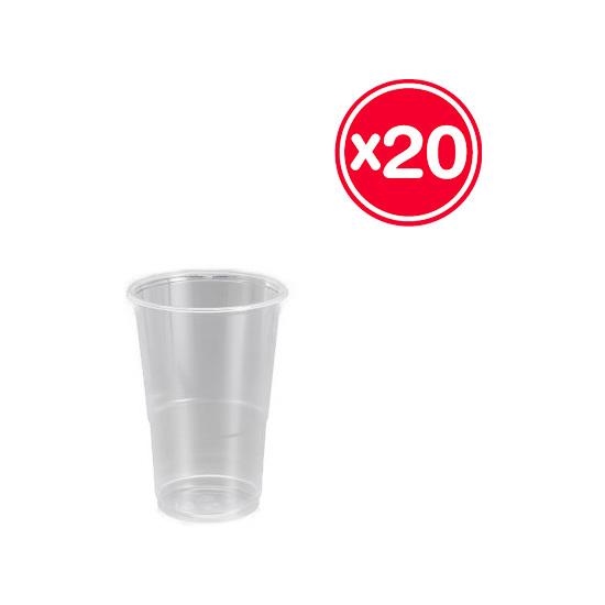 VASO PLÁSTICO IRROMPIBLE 300CC, BEST PRODUCTS, 20UDS.