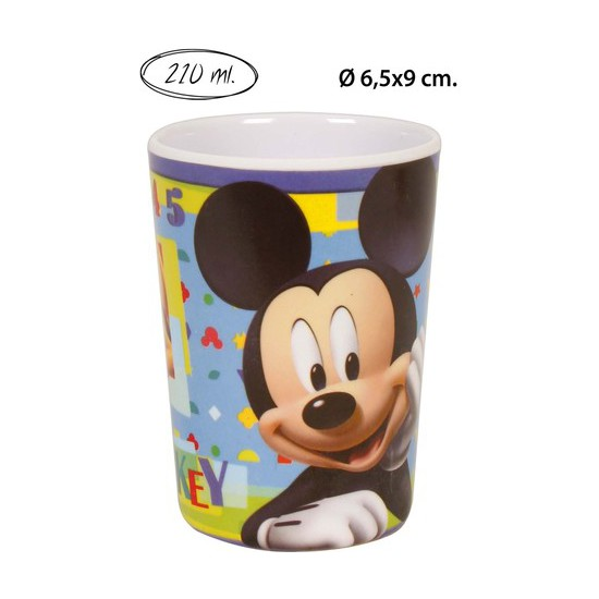VASO MELAMINA, DISNEY, -MICKEY-, 210ML.