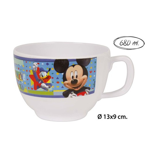 TAZA JUMBO MELAMINA, DISNEY, -MICKEY-, 680ML. (1)