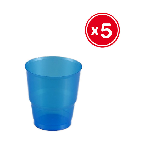 VASO IRROMPIBLE AZUL 220CC., BEST PRODUCTS, 5UDS.