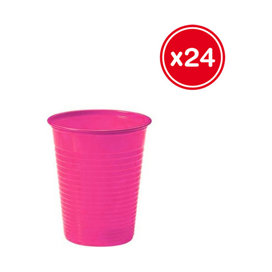 VASO PLÁSTICO FUCSIA 200CC., BEST PRODUCTS, 24UDS.