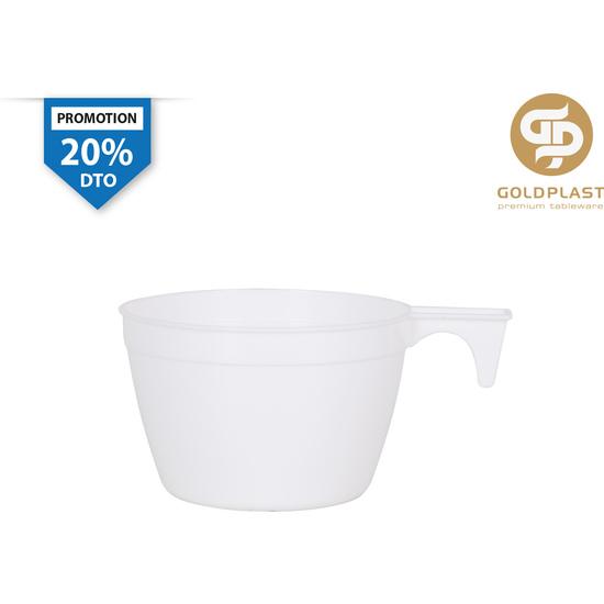 SET DE 50   TAZA CAFE BLANCO PP