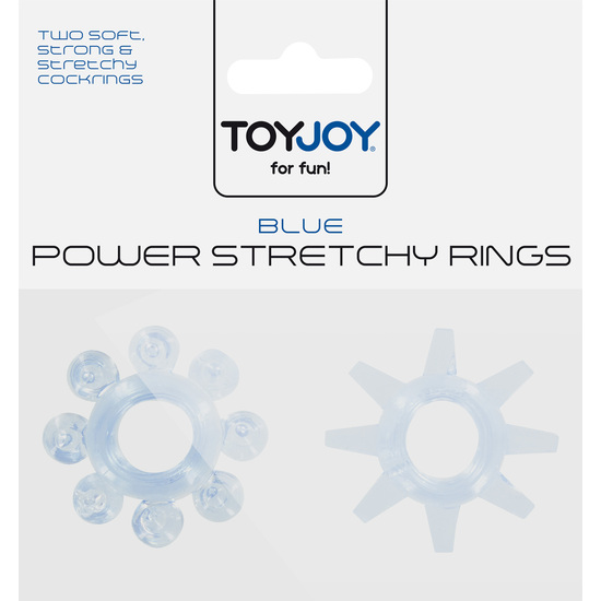 POWER STRETCHY ANILLO AZUL 2PCS