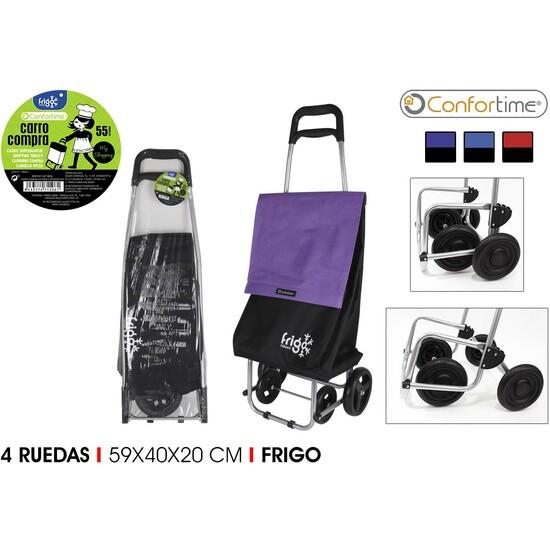 CARRO COMPRA 4R FRIGO 2 59X40X20CM CONFORTIME