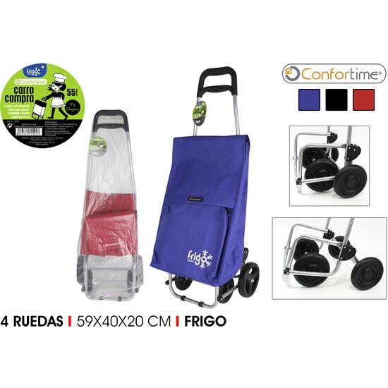 CARRO COMPRA 4R FRIGO 59X40X20CM CONFORTIME