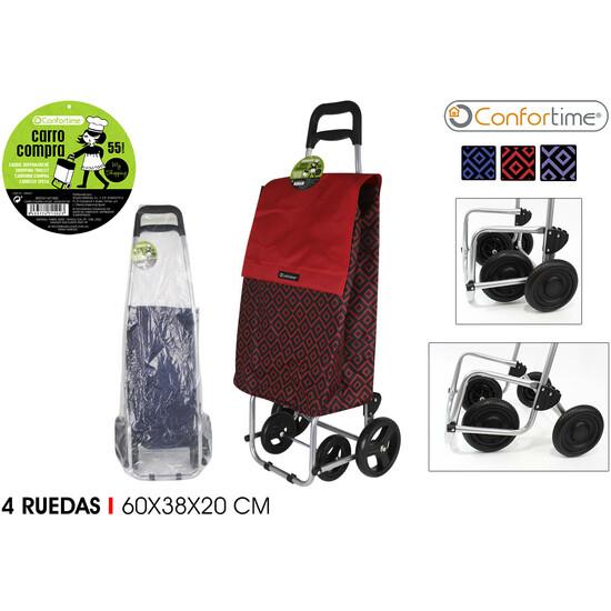 CARRO COMPRA 4R DECORADOS 60X38X20CM CONFORTIME