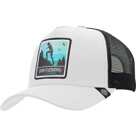 GORRA TRUCKER BORN TO ULTRATRAIL BLANCA THE INDIAN FACE PARA HOMBRE Y MUJER