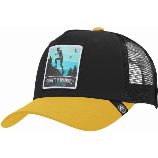 GORRA TRUCKER BORN TO ULTRATRAIL NEGRO THE INDIAN FACE PARA HOMBRE Y MUJER