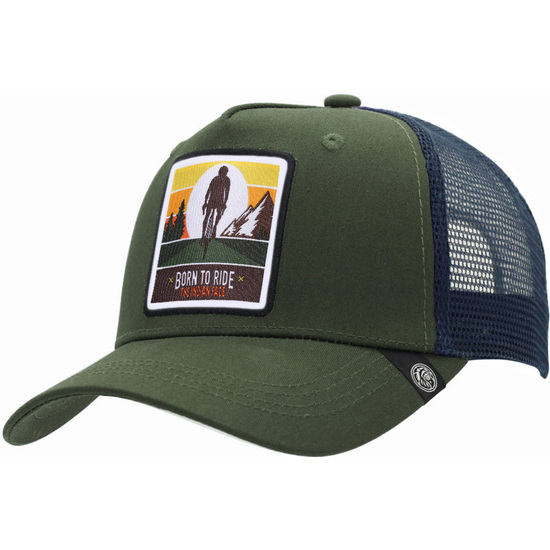 GORRA TRUCKER BORN TO RIDE VERDE THE INDIAN FACE PARA HOMBRE Y MUJER