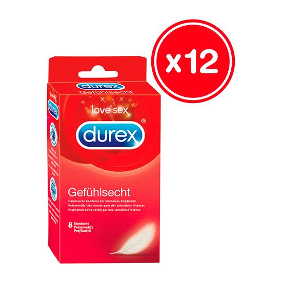 DUREX SENSITIVOS 8 UDS (12 CAJAS)