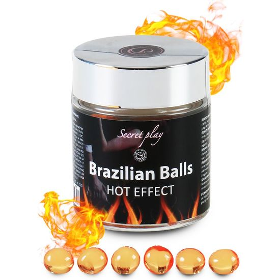 SECRET PLAY BRAZILIAN BALLS EFECTO CALOR TARRO 6 BOLAS