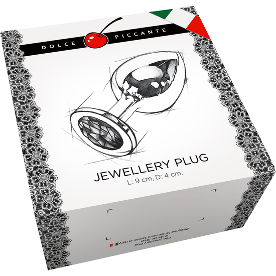 PLUG ANAL JEWELLERY LARGE PLATA / DIAMANTE (1)