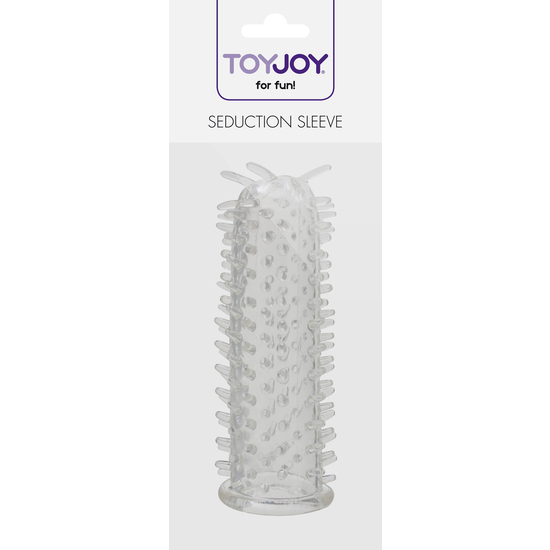 SEDUCTION FUNDA PARA EL PENE DE SILICONA TRANSPARENTE (1)