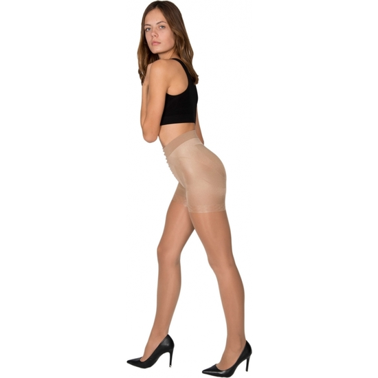 PANTY LICRA 40 DEN REDUCTOR PUSH UP LOTE DE 2 COLOR BEIGE (M - )