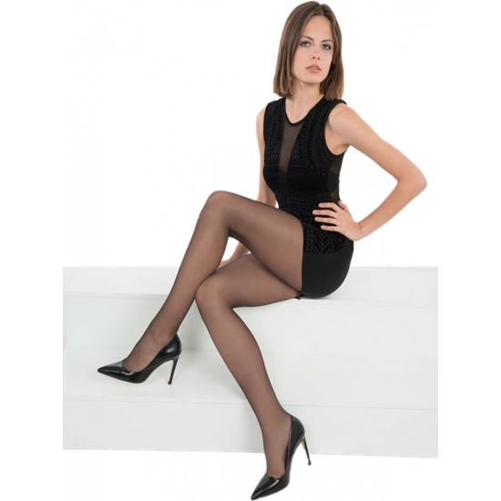 PANTY LICRA RELAX 30 DEN LOTE DE 2 COLOR NEGRO (M - )