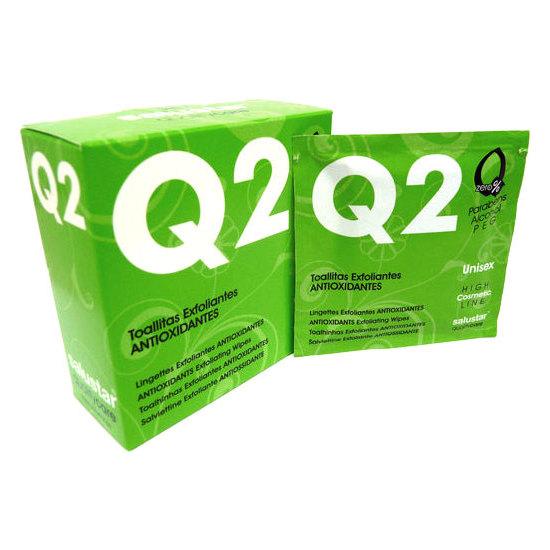 TOALLITAS EXFOLIANTES Q2 ESTUCHE 5UD