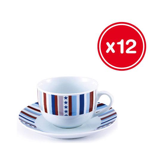 SET TAZAS DE CAFÉ O TE 12PCS PORCELANA STARLINE RENBERG