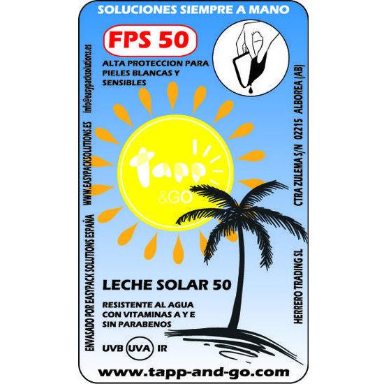 LECHE SOLAR FPS 50 CAJA 20 UNIDADES 8 GR