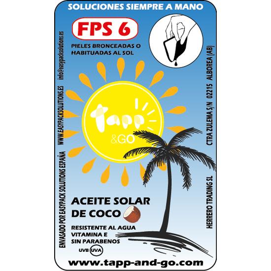 ACEITE SOLAR COCO FPS 6 CAJA 20 UNIDADES 8 GR (2)