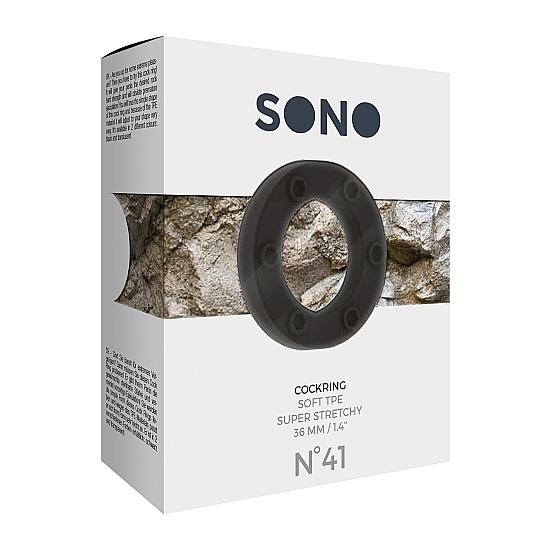 SONO No. 41 ANILLO 3,6 CM - NEGRO (2)
