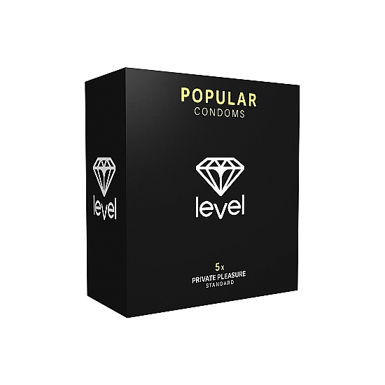 PRESERVATIVOS LEVEL POPULAR CONDOMS - 5UDS