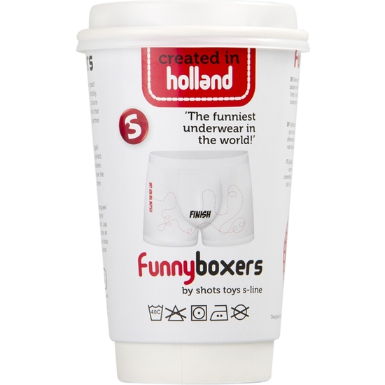 FUNNY BOXERS FINISH BLANCO BOXERS Y SLIPS DEPORTIVOS
