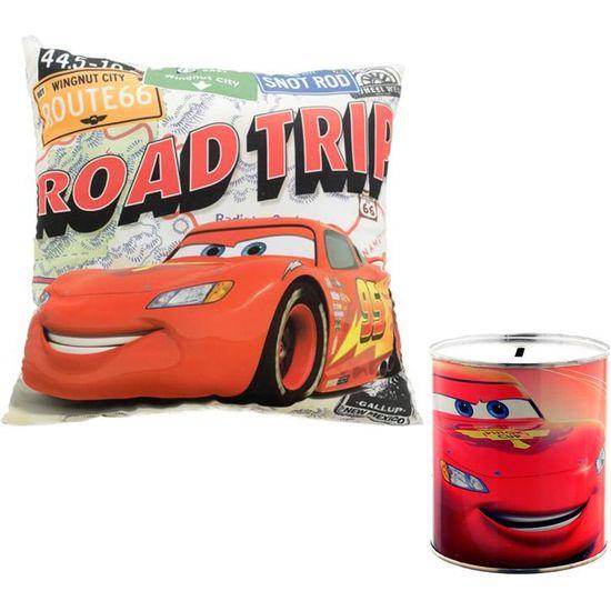 SET CARS - HUCHA + COJÍN