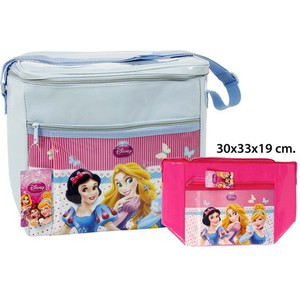 BOLSA NEVERA COLORES SURTIDOS, DISNEY, -PRINCESS-, 30X33X19CM.